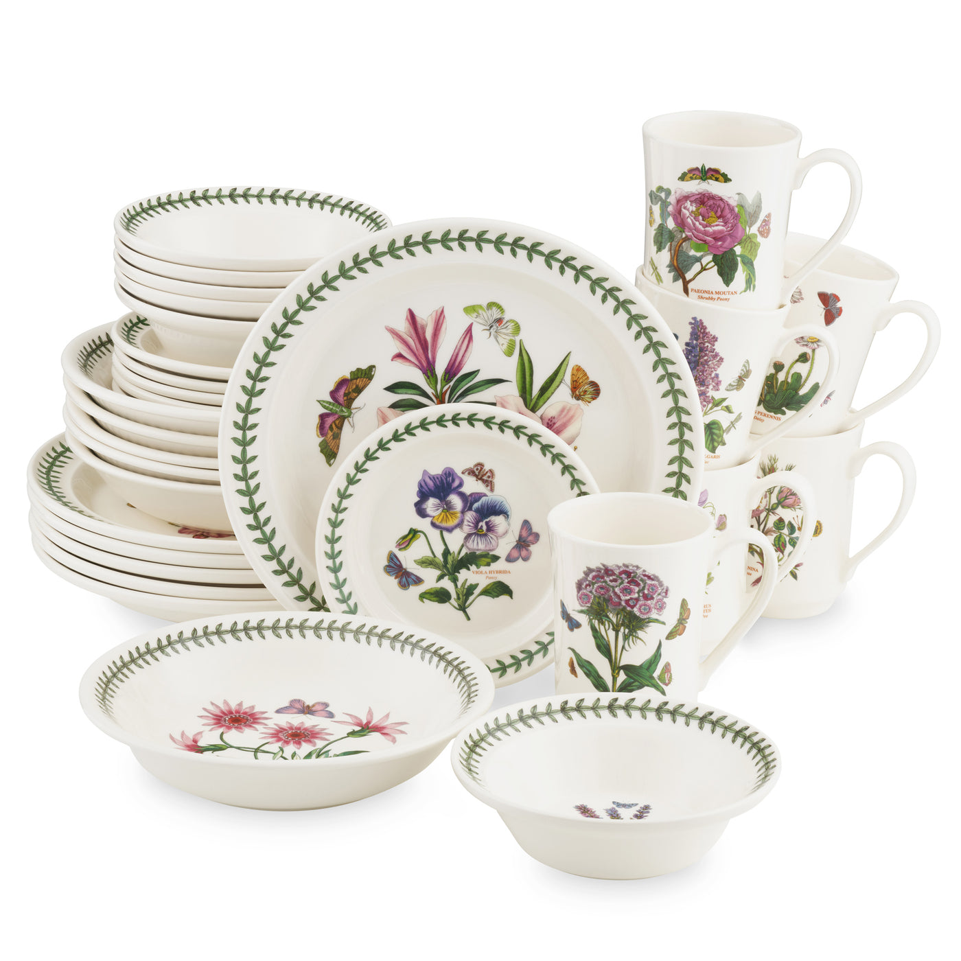 Botanic Garden 30pc Set (Dinner, B&B, Cereal, Mug, Pasta)