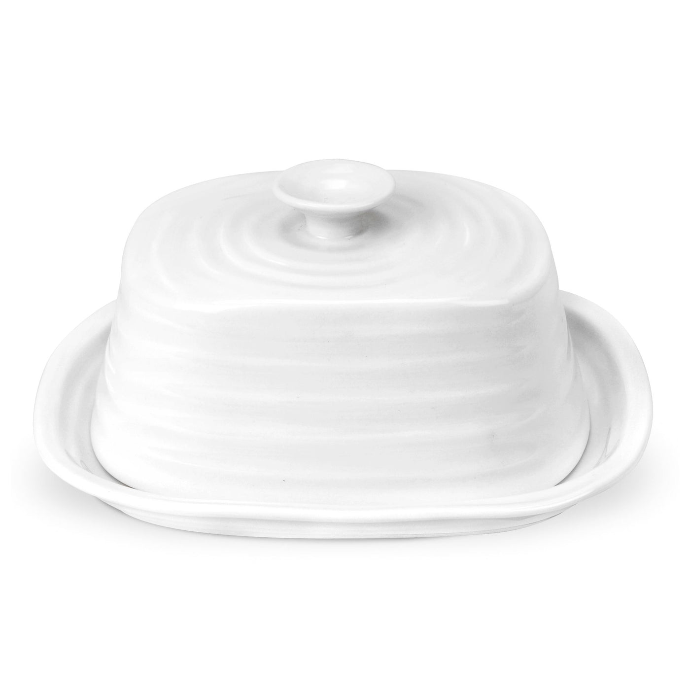 White Collection Oblong Butter Dish
