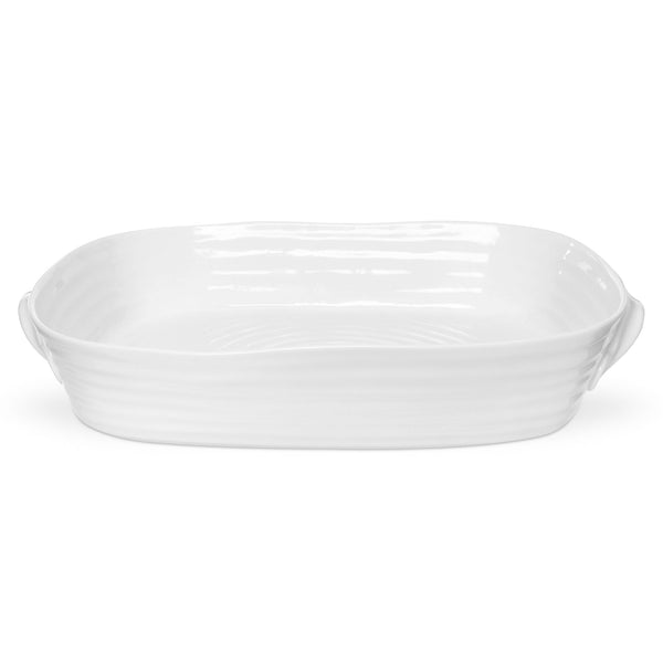 White Collection Large Handled Roasting Dish