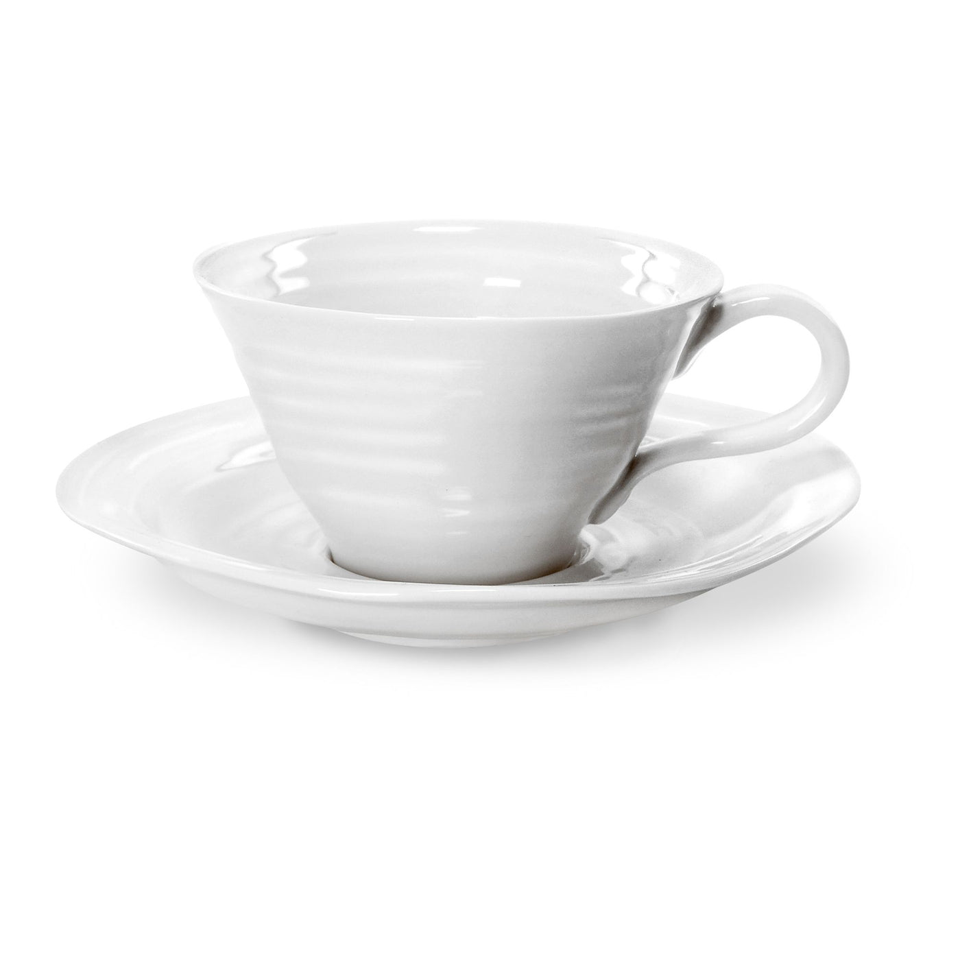 White Collection Tea Cup & Saucer