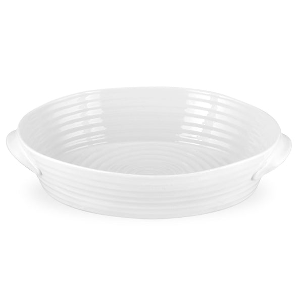 White Collection Large Oval Handled Roasting Dish