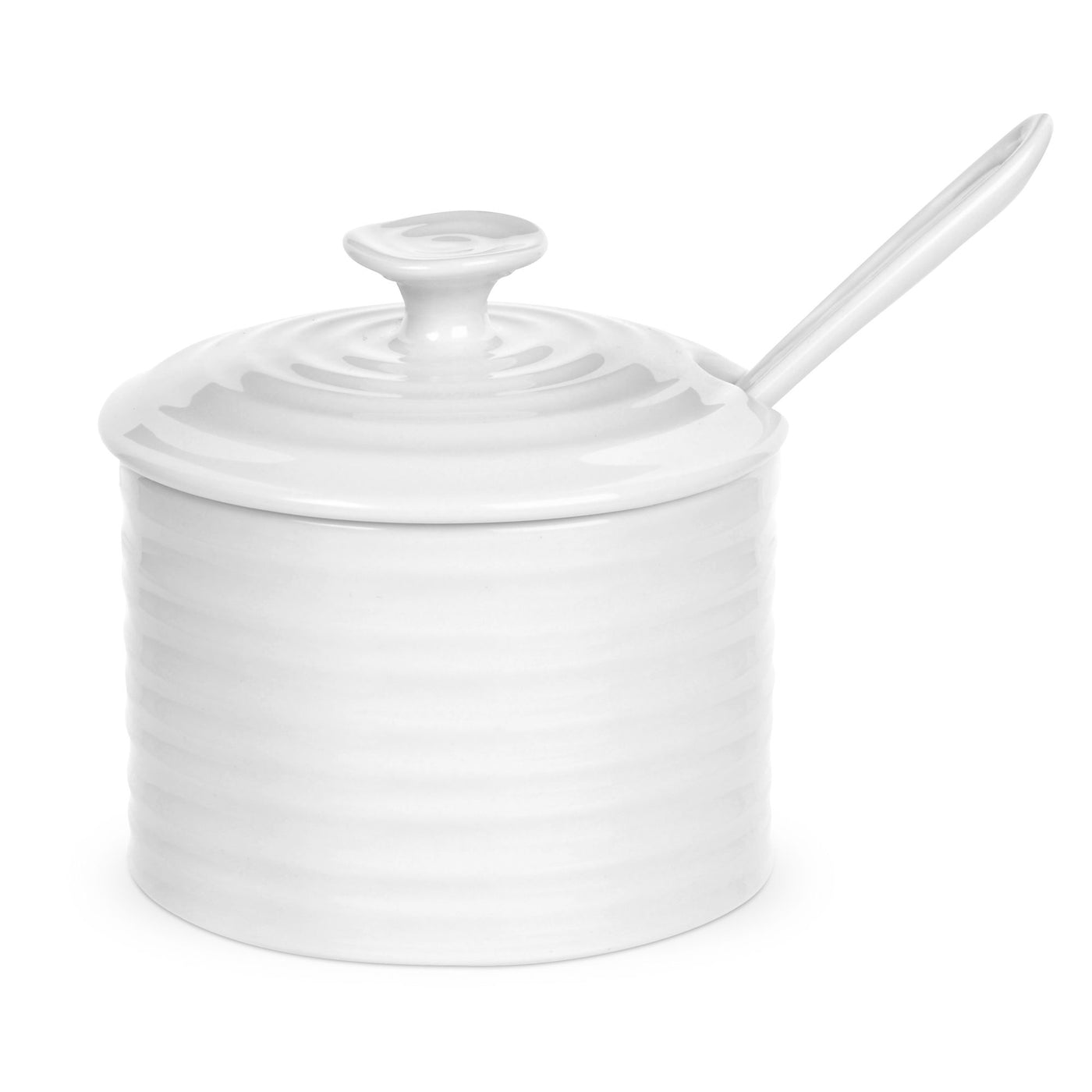 White Collection Condiment w/Spoon