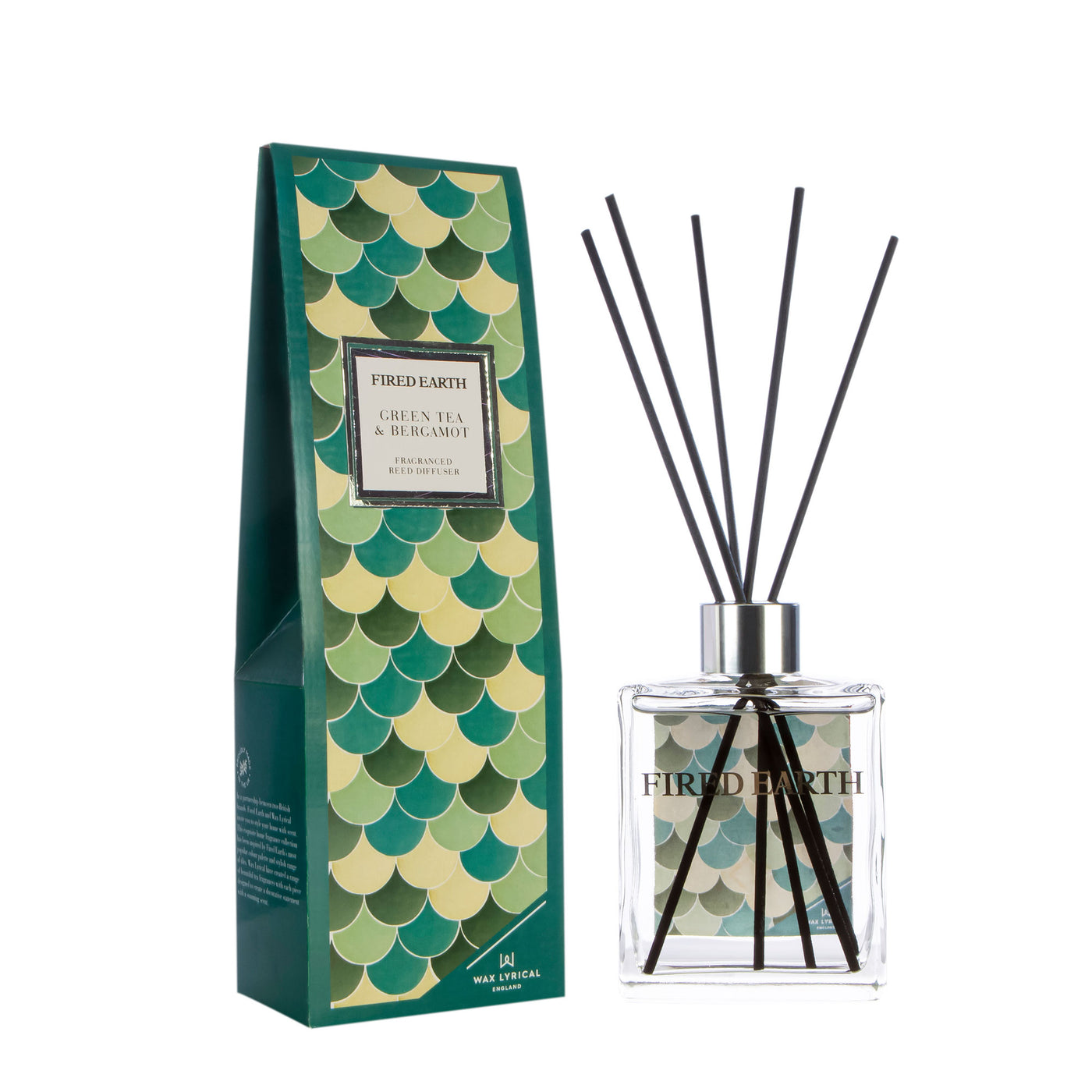 Fired Earth Room Diffuser 180mL, Green Tea & Bergamot