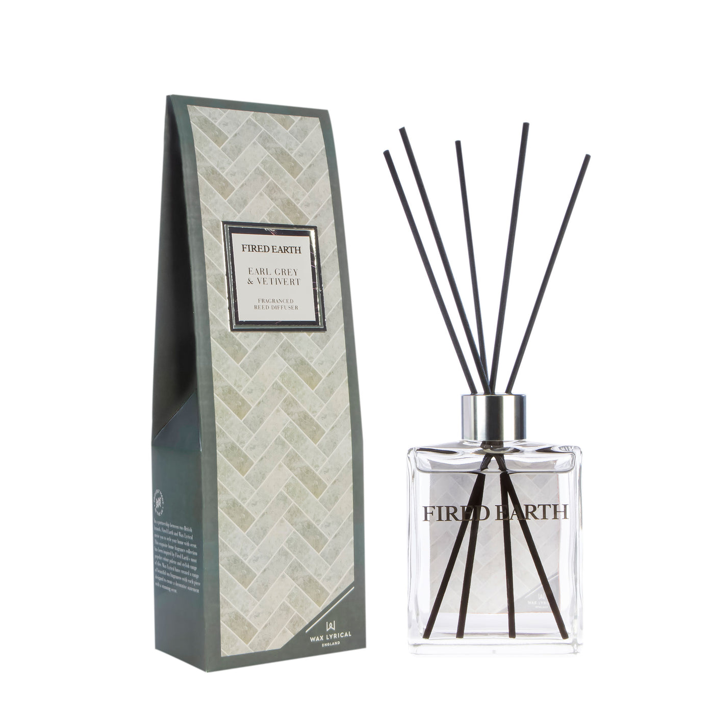 Fired Earth Room Diffuser 180mL, Earl Grey & Vetivert