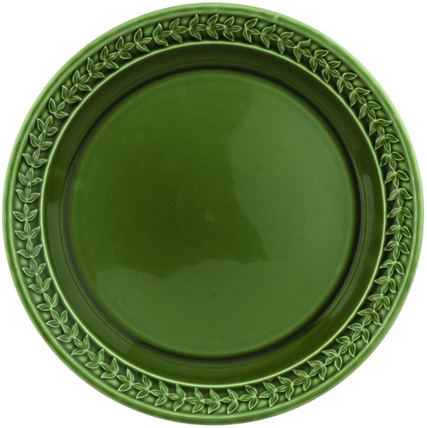 "Botanic Garden Harmony Dinner Plate 10"" Forest Green Set of 4"