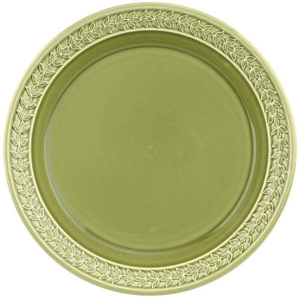 "Botanic Garden Harmony Dinner Plate 18"" Moss Green Set of 4"