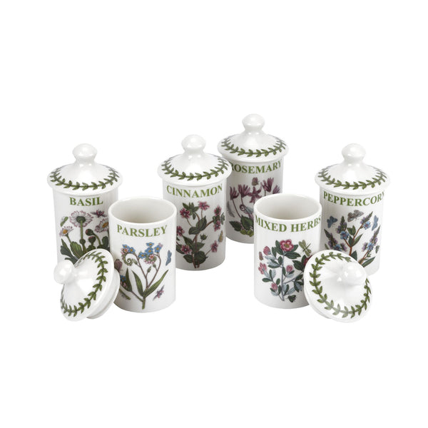 Botanic Garden Herb + Spice Jars, Set of 6