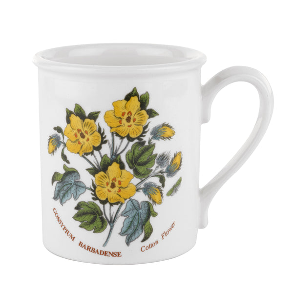 Botanic Garden Breakfast Mug Cotton Flower 9oz