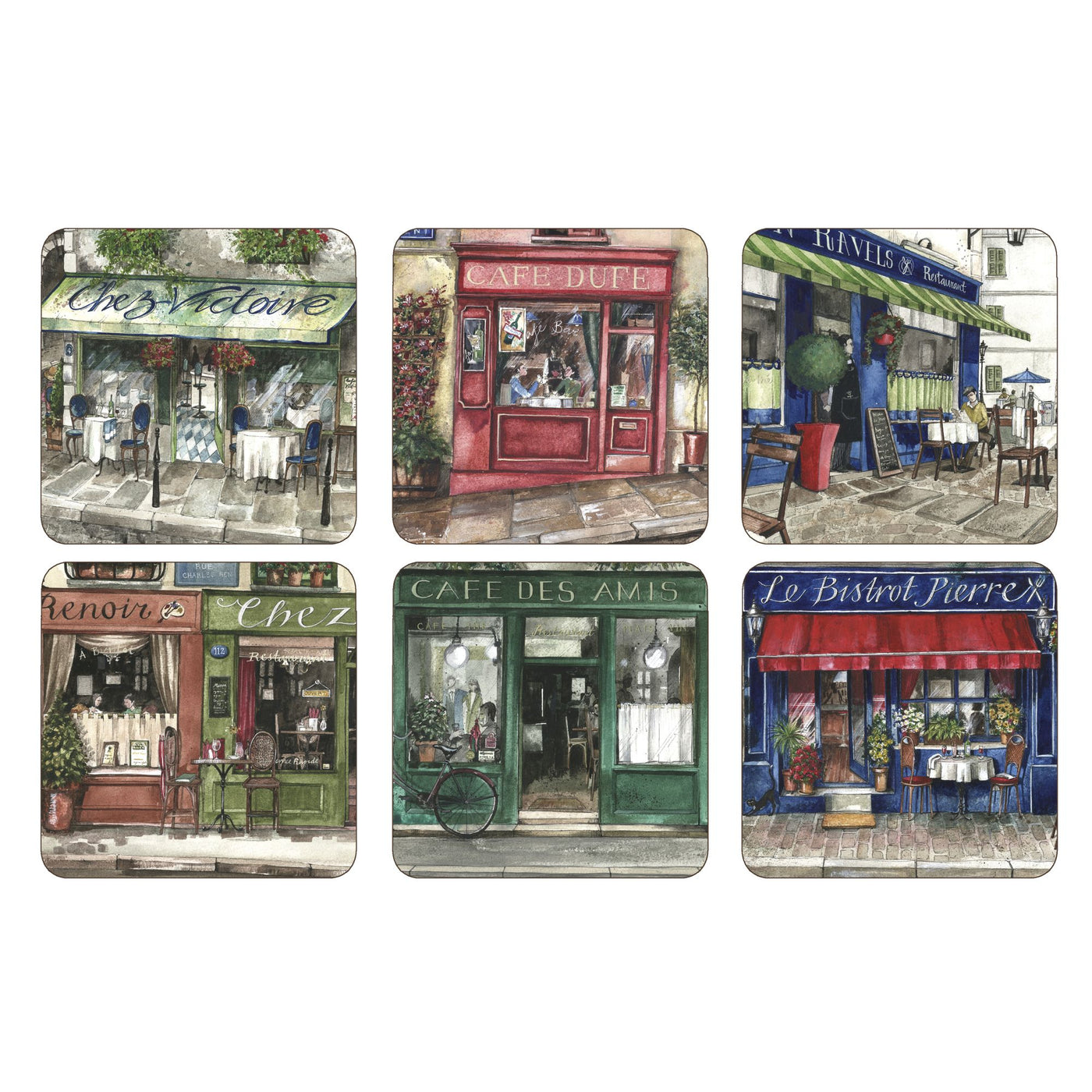 Café de Paris Coasters, Set of 6