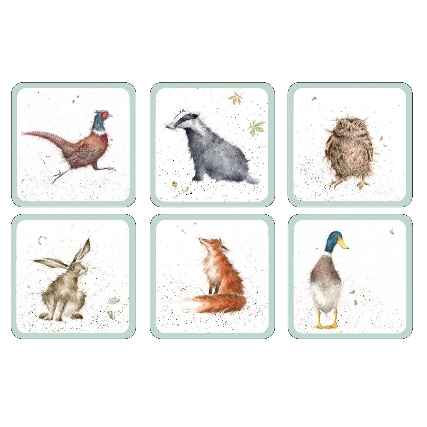 Wrendale Coasters,Set of 6