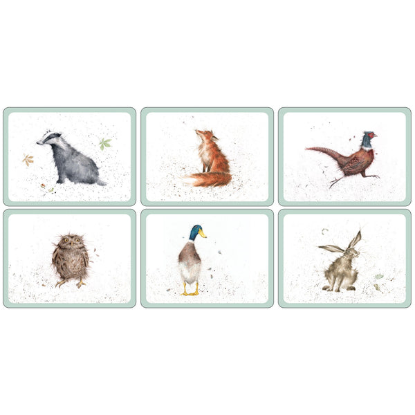 Wrendale Luncheon Mats,Set of 6
