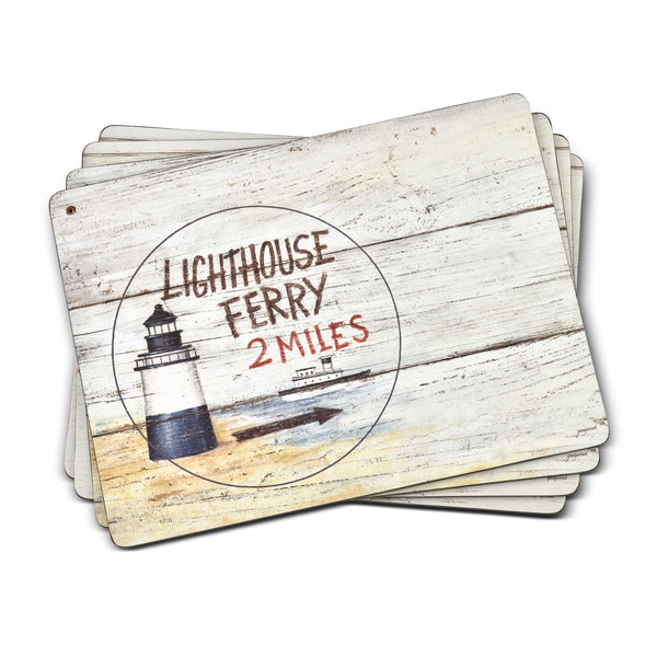Coastal Signs, Set of 4 Mats