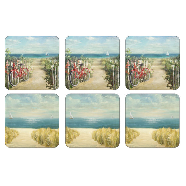Summer Ride Coasters, Set of 6
