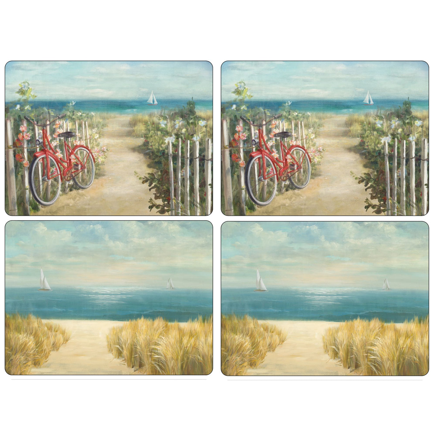 Summer Ride Mats, Set of 4