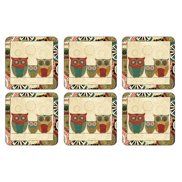 Spice Road Coasters ,Set of 6