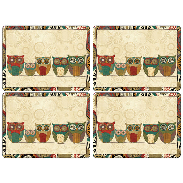 Spice Road Mats ,Set of 4