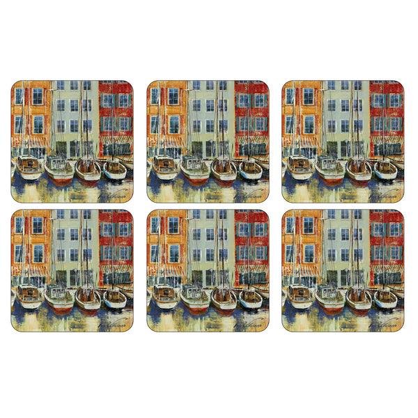 Boat Scene Coasters ,Set of 6