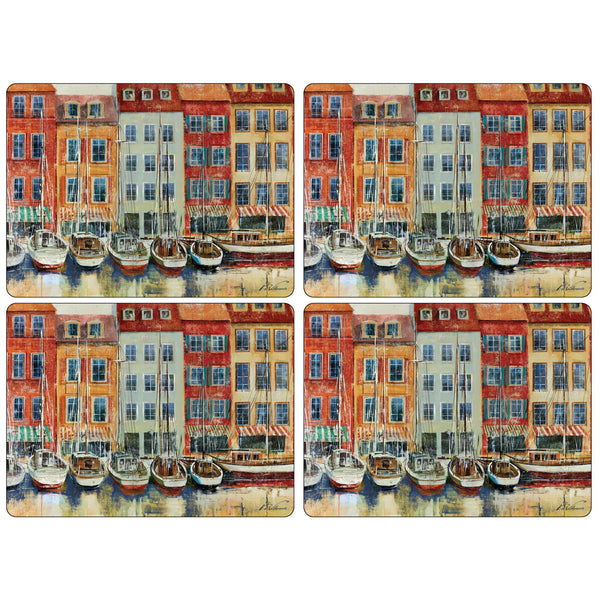 Boat Scene Mats ,Set of 4