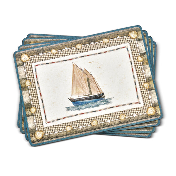 Coastal Breeze, Set of 4 Mats