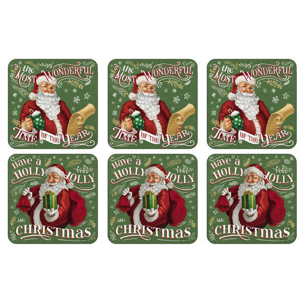 Santa's List Coasters, Set of 6