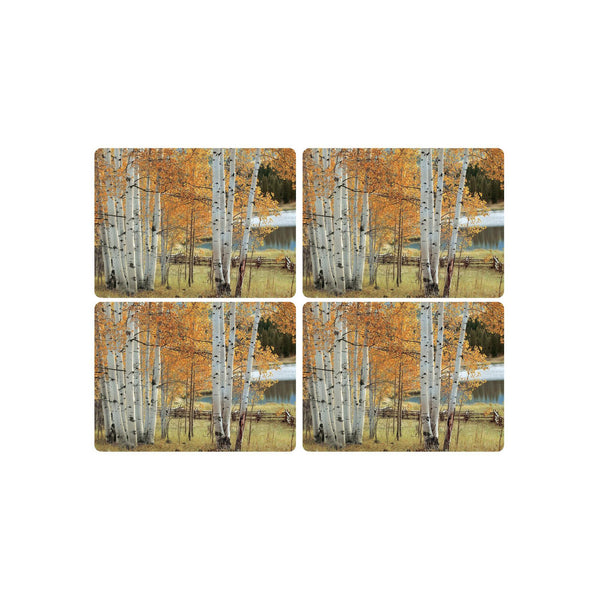 Birch Beauty Mats ,Set of 4