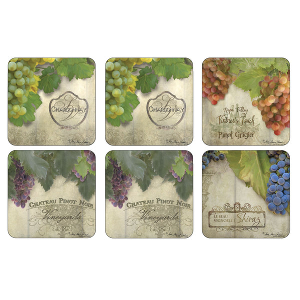 Tuscan Vineyard Coasters, Set of 6