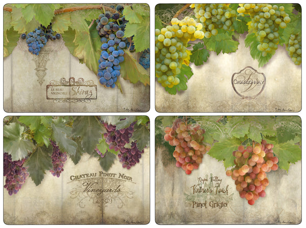 Tuscan Vineyard Mats, Set of 4