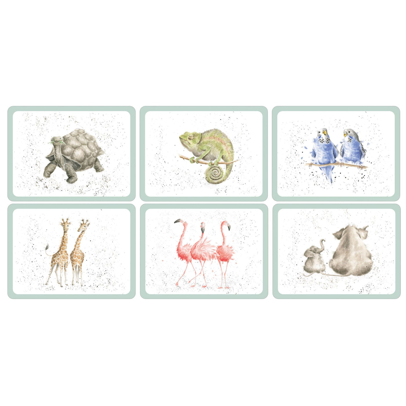 Zoological Luncheon Mats, Set of 6