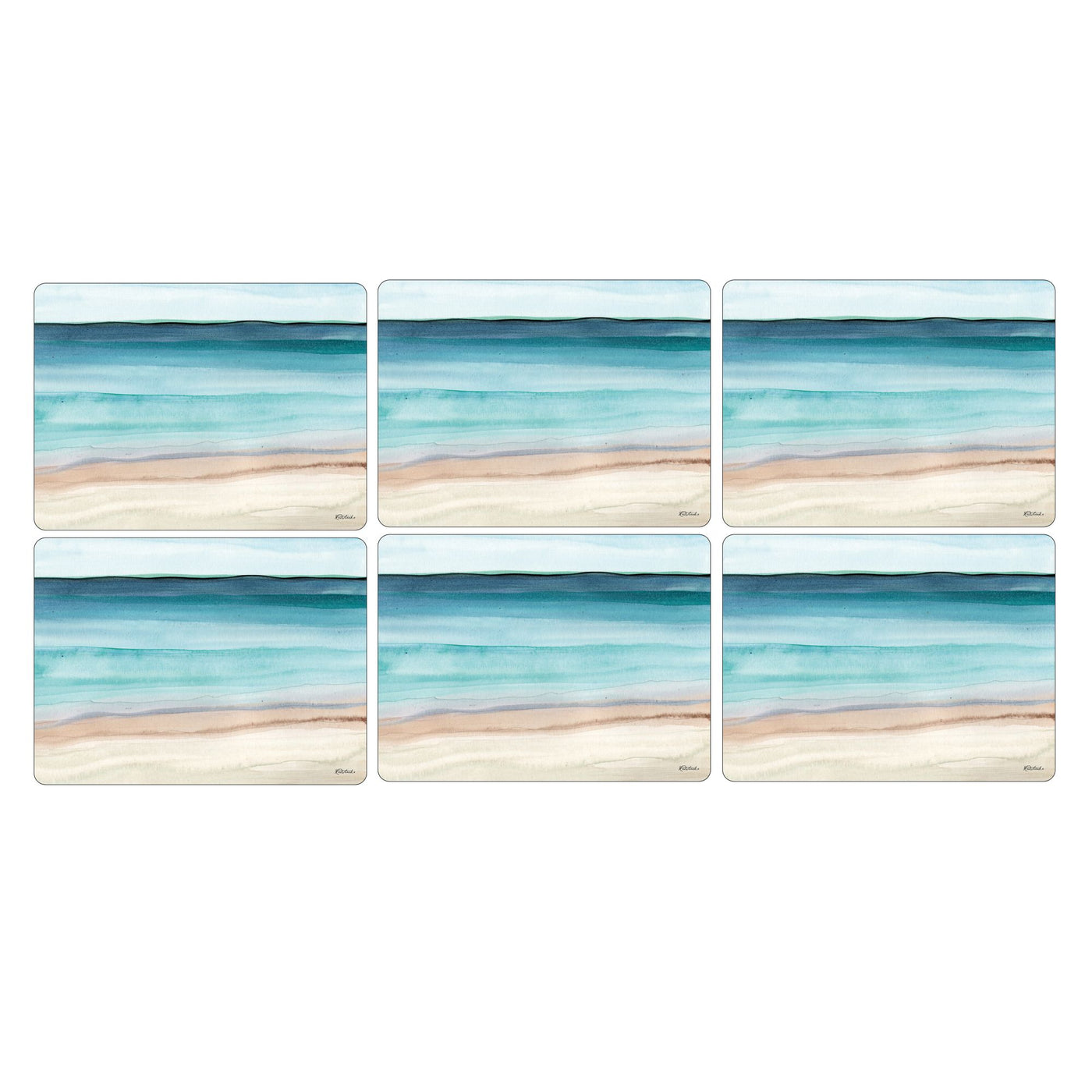 Coastal Shore Luncheon Mats, Set of 6