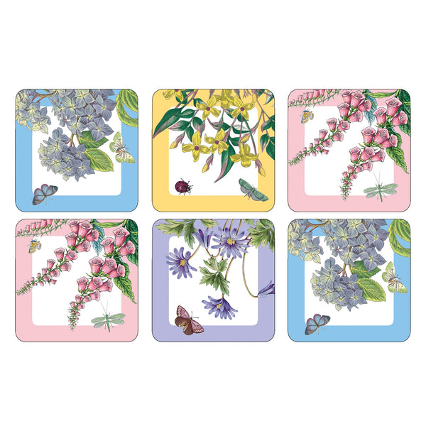 Botanic Garden Terrace Coasters, Set of 6