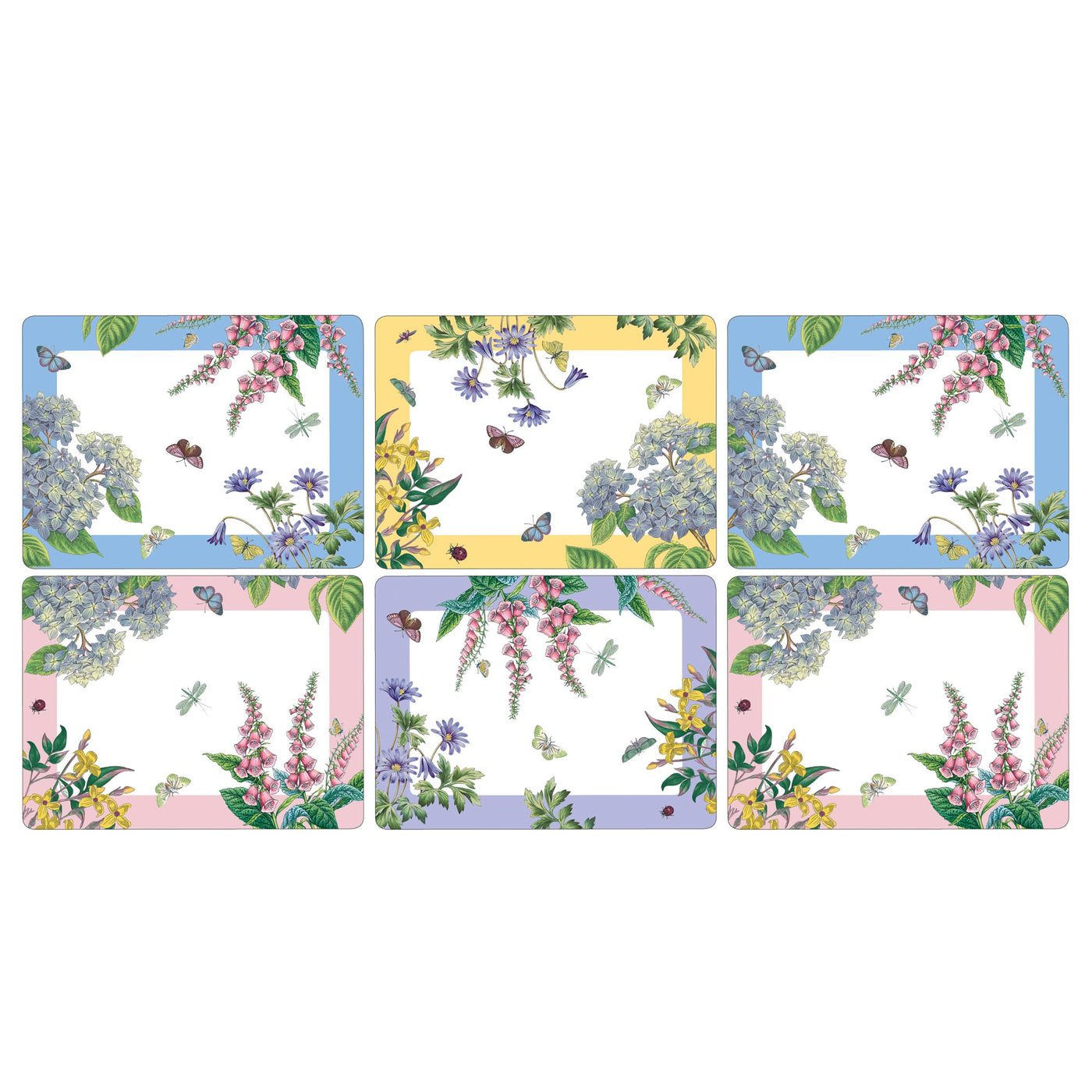Botanic Garden Terrace Luncheon Mats, Set of 6