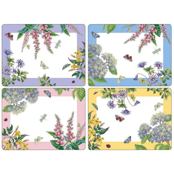 Botanic Garden Terrace Mats, Set of 4
