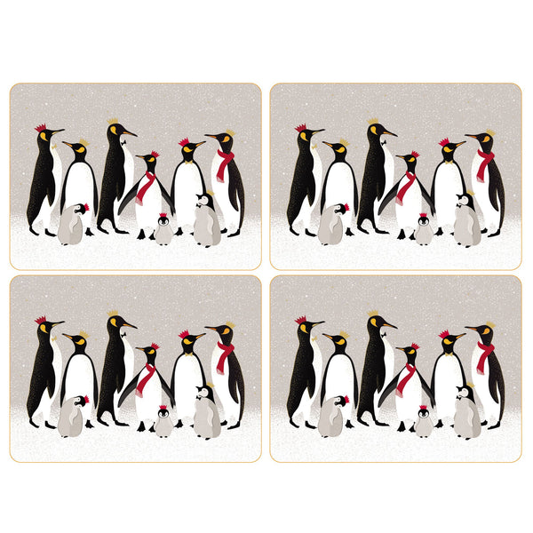 Sara Miller Christmas Penguin Luncheon Mats, Set of 4