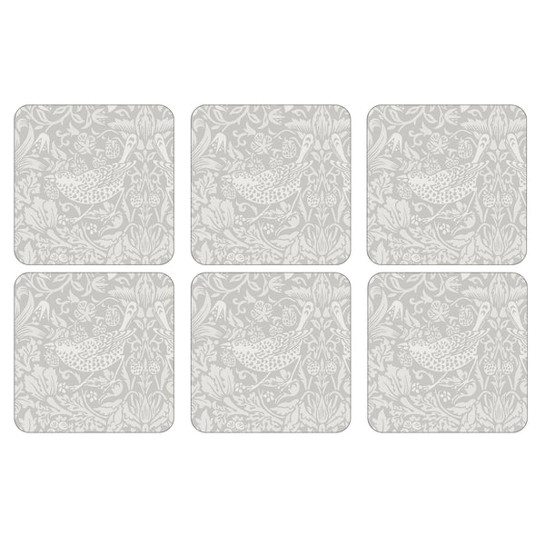 Strawberry Thief Pure Coasters, Set of 6