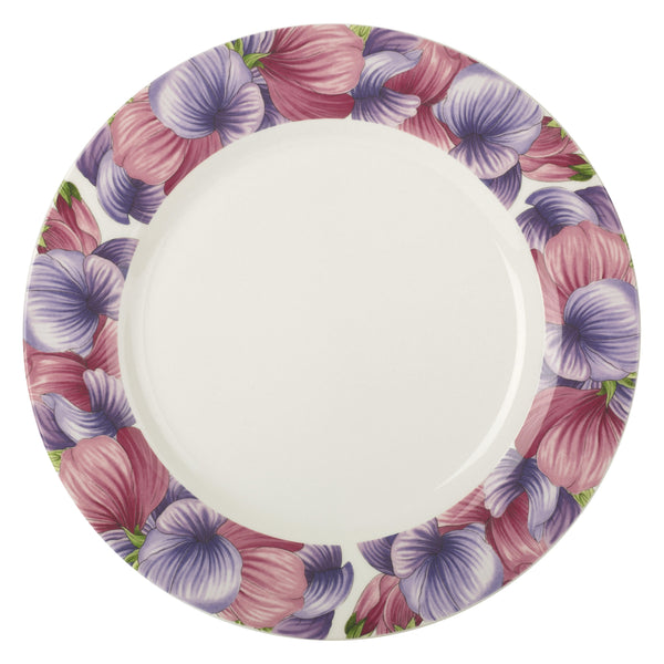 "Botanic Blooms Dinner Plate 11"" Sweet Pea"