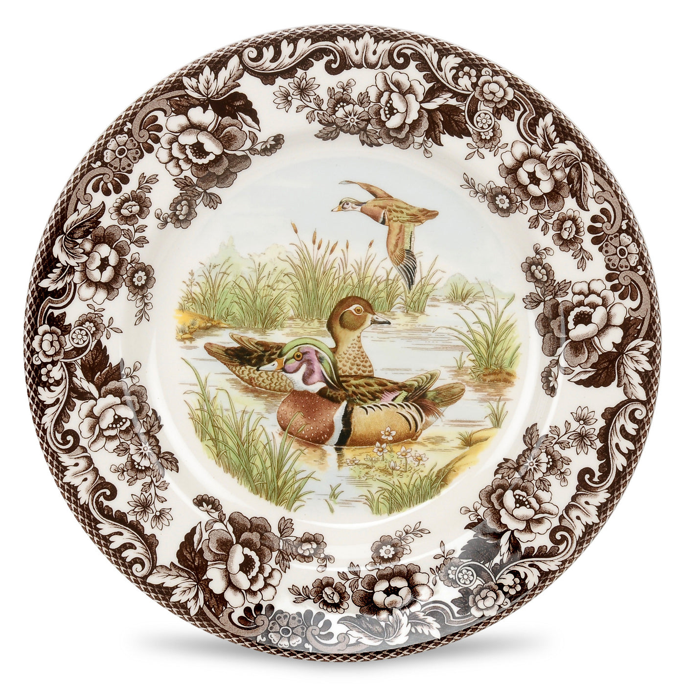Salad Plate-Wood Duck 8""