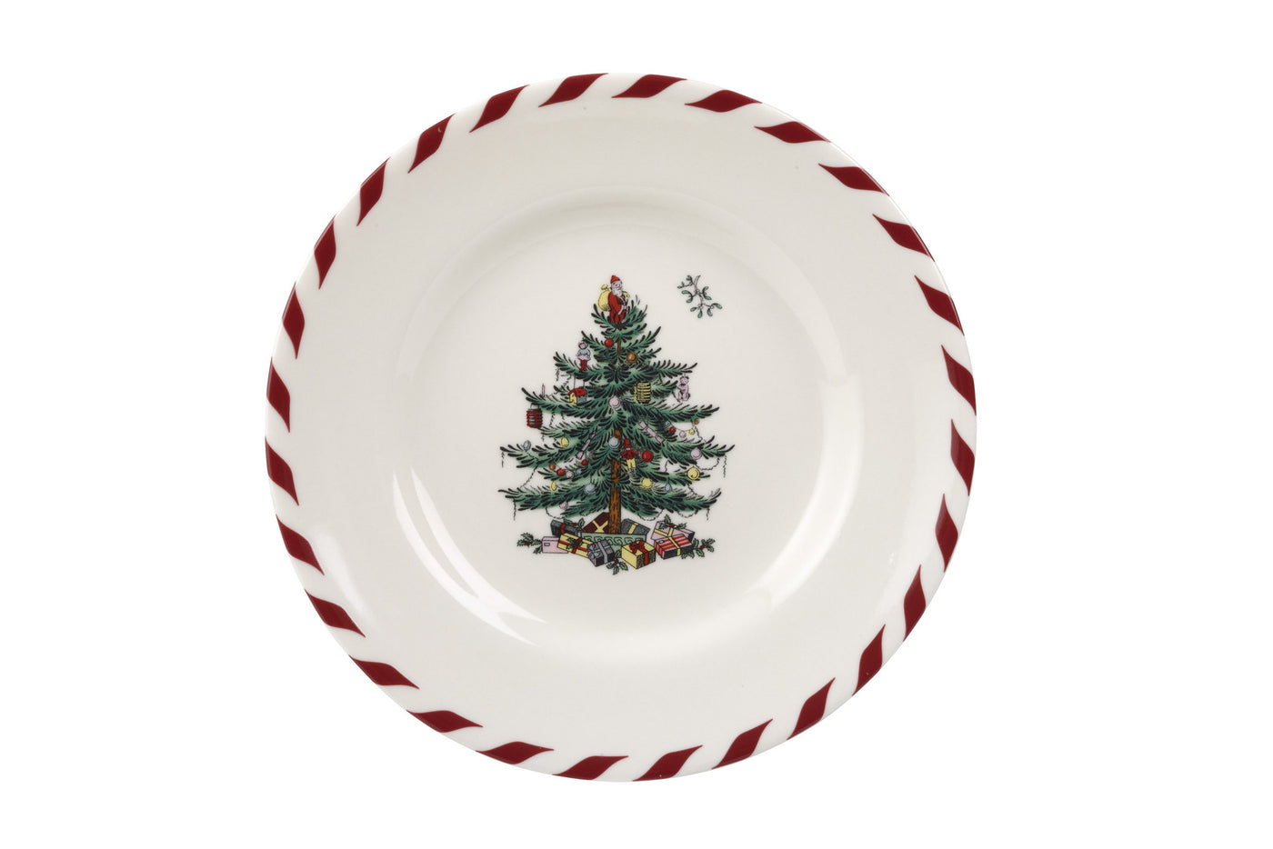 Peppermint Canape Plate (Set of 4)
