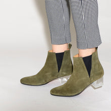 Load image into Gallery viewer, Ally Suede Olive