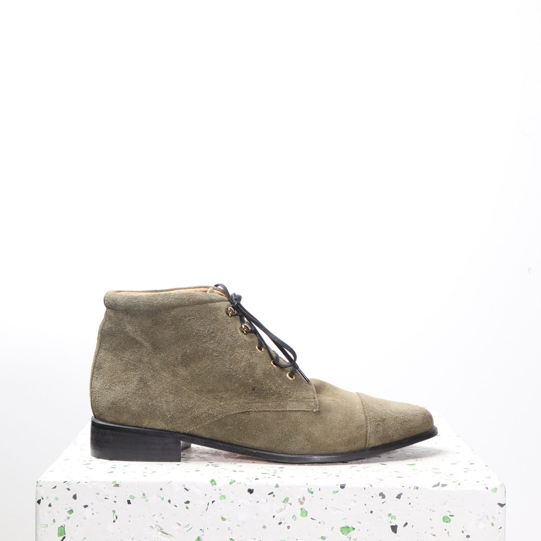 Ashley Suede Olive - last pair 38