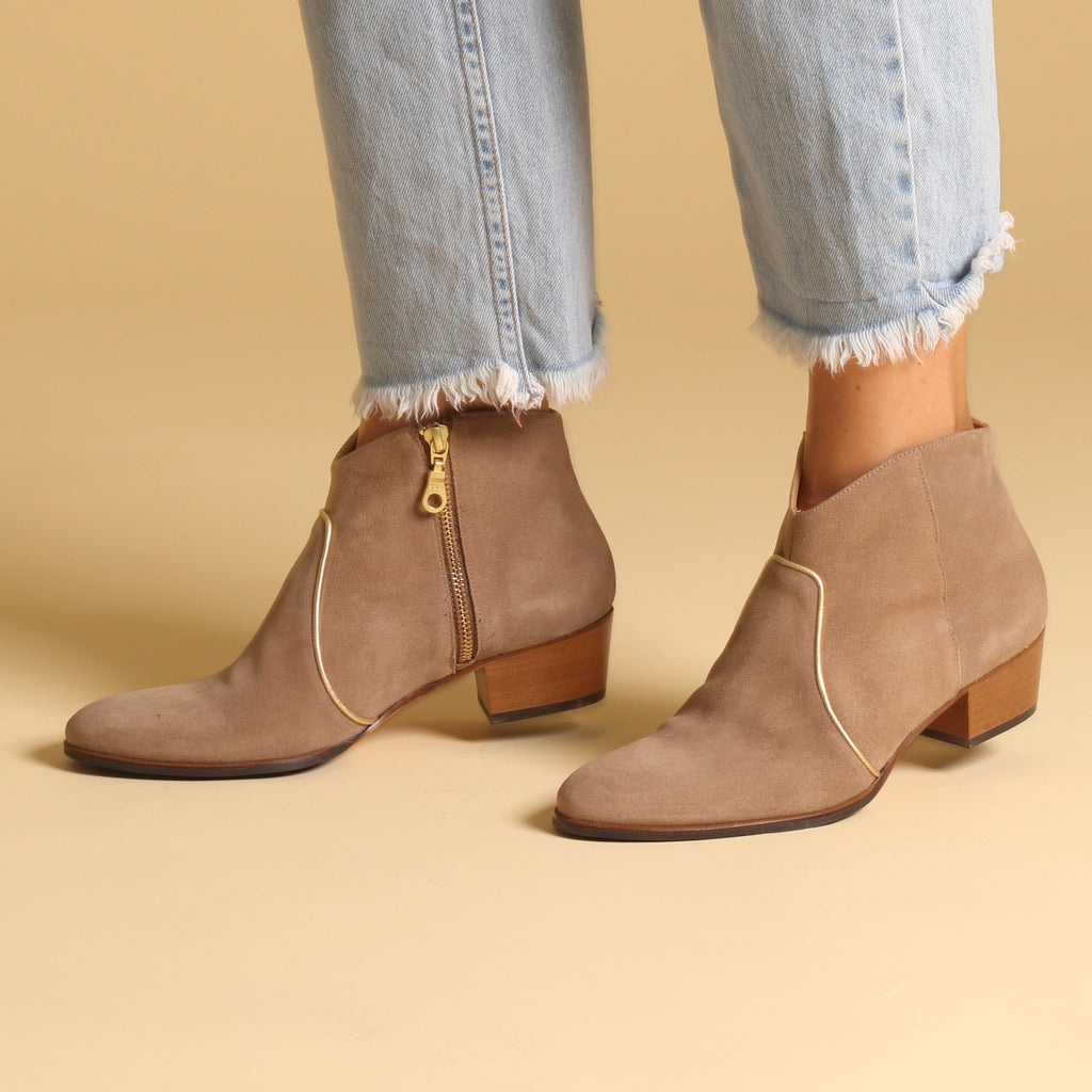 DUNN Suede Sand & Gold - last pair 36