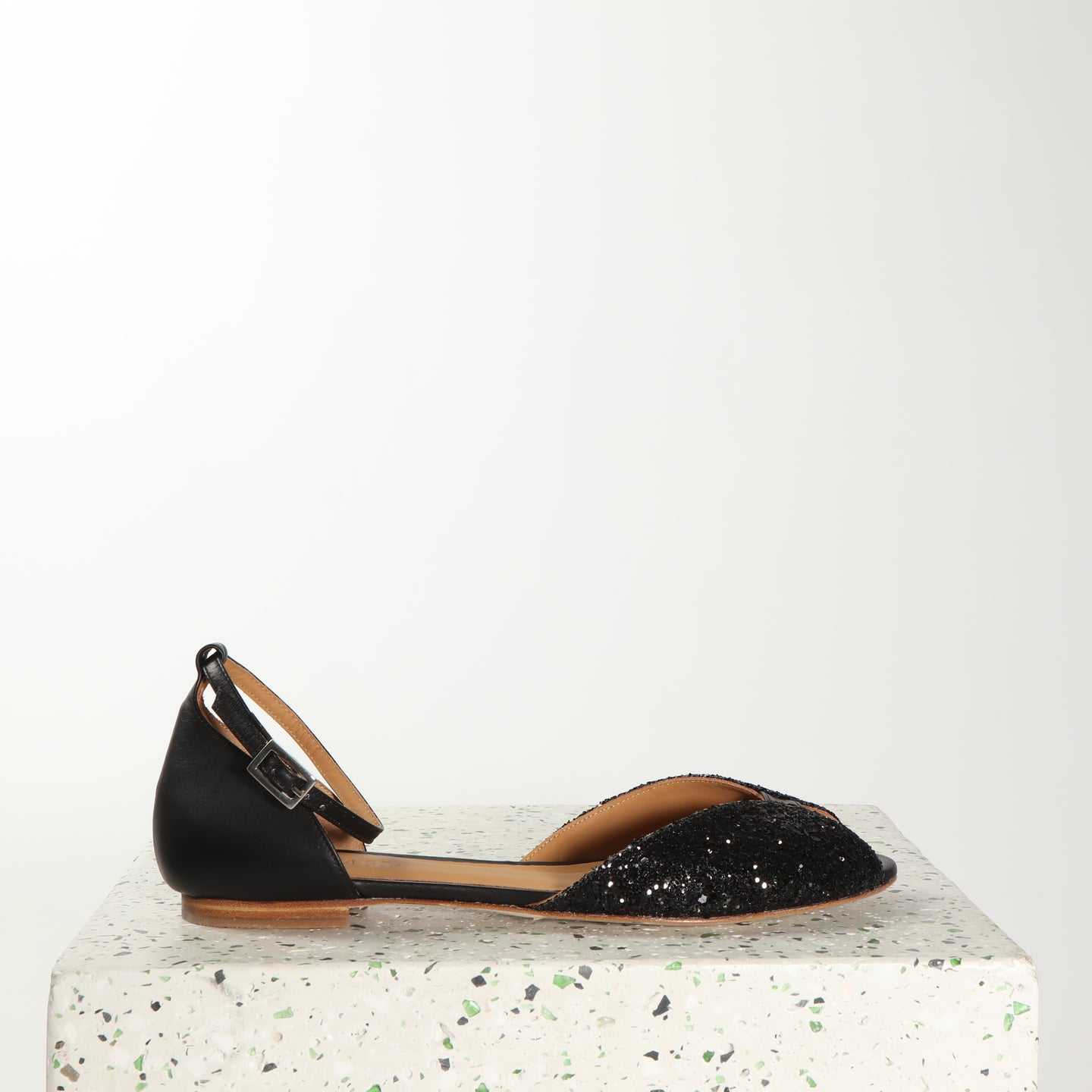 JULIETTE Glitter Black & Calf Black