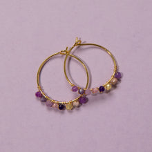 Load image into Gallery viewer, Marianne Purple Earrings