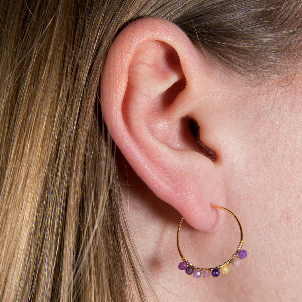 Marianne Purple Earrings