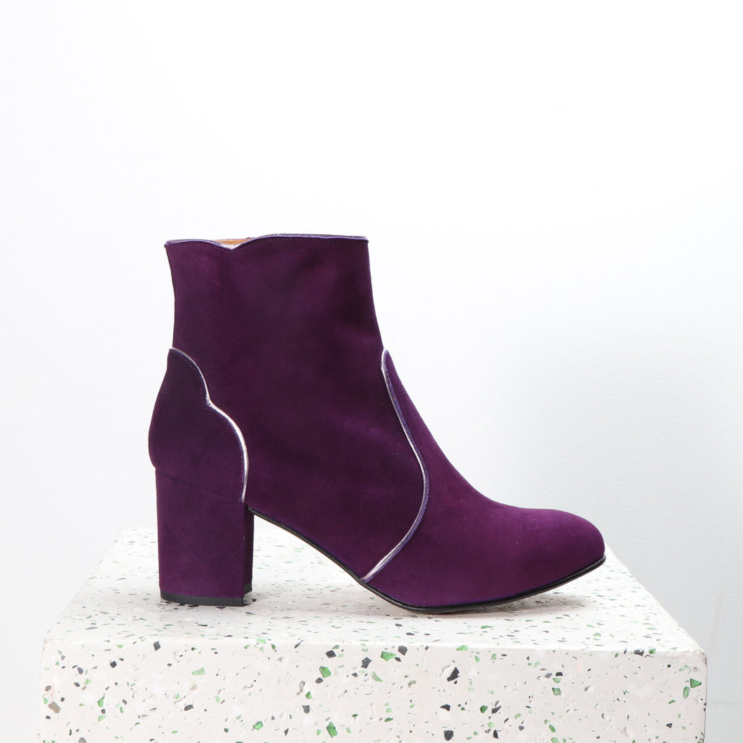 Maja Suede Purple and Rosegold