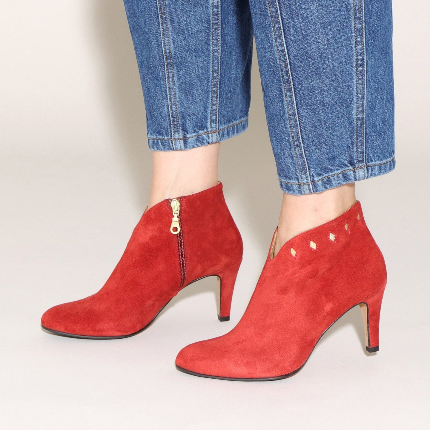 Tania Suede Red and Gold - last pairs 39