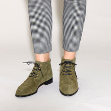 Load image into Gallery viewer, Ashley Suede Olive - last pair 38