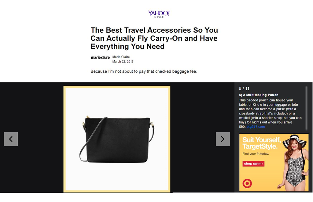 YAHOO STYLE The Best Travel Accessories So You Can Actually Fly Carry-On