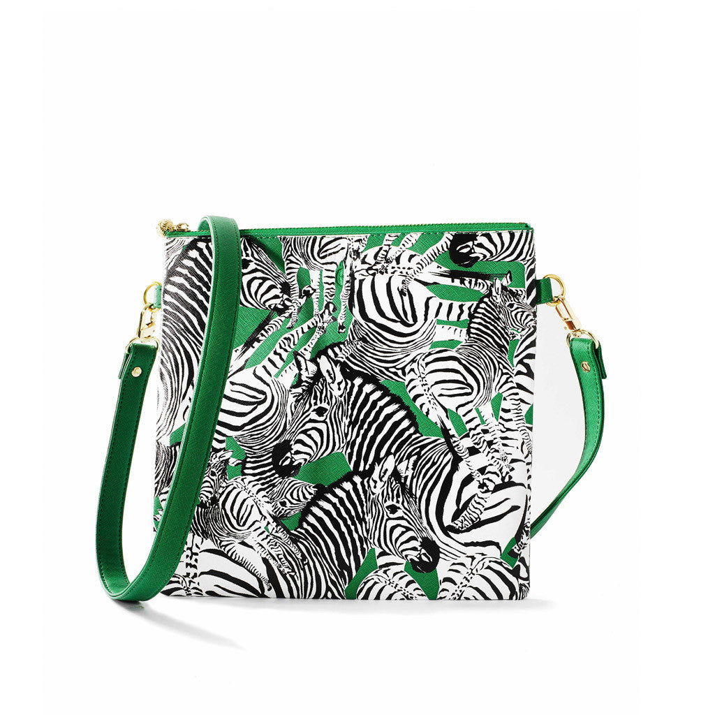 OTG|247 #6 Diana Zebra Green Handbag With Straps