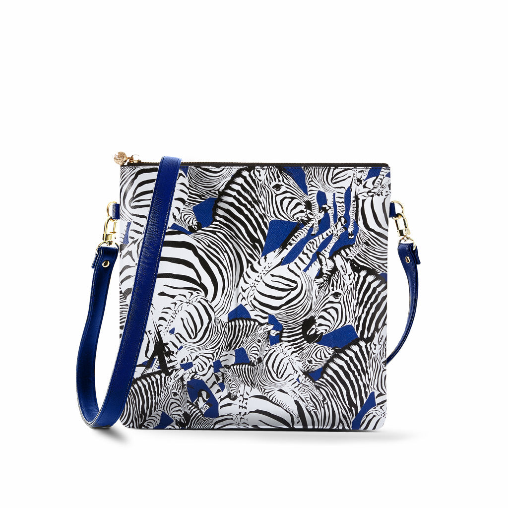 OTG|247 #6 Diana Zebra Navy Handbag With Straps