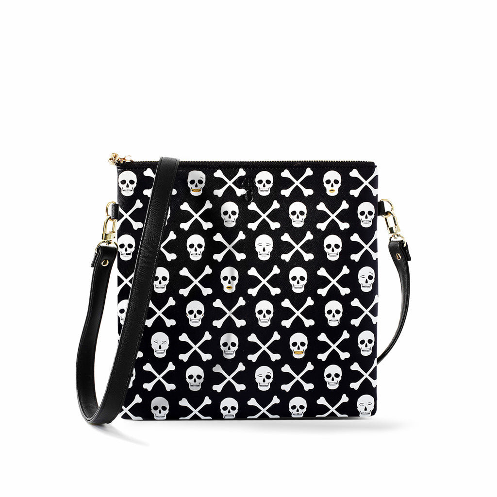 OTG|247 #6 Holly Skull Black Handbag With Straps